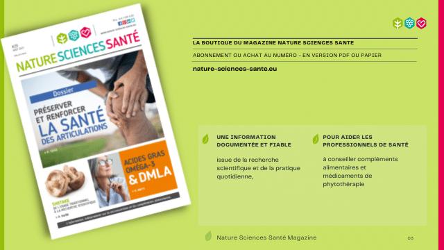 Le magazine #29 est disponible de Nature Sciences Santé